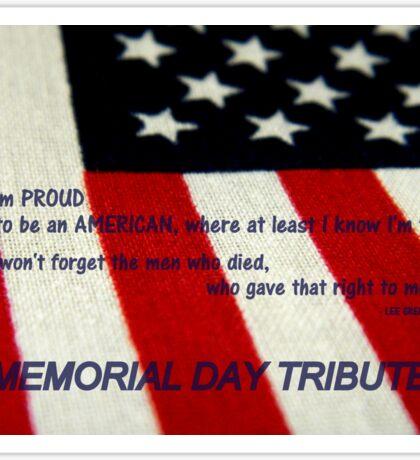 MEMORIAL TRIBUTE      ^ Sticker