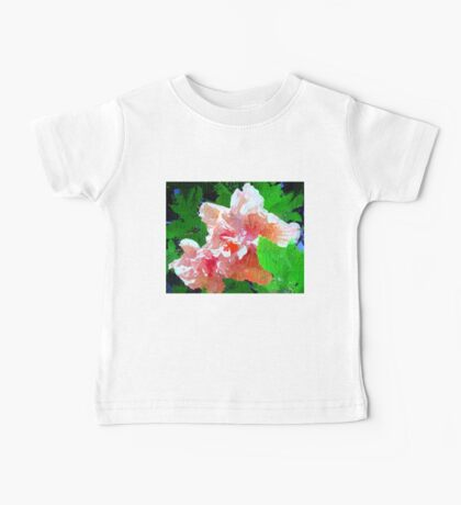 Hibiscus abstract Baby Tee