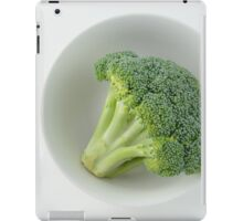 Raw broccoli iPad Case/Skin