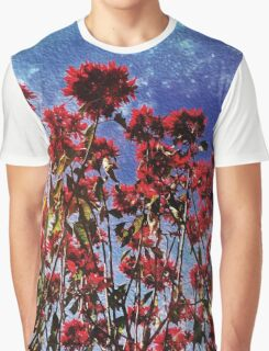Flowers galaxies Graphic T-Shirt