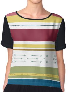 Arrows & Colours I Chiffon Top