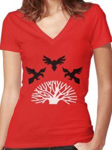 House Blackwood Sigil Women's Fitted V-Neck T-Shirt