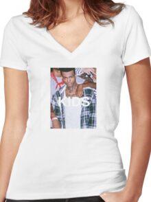 xxxtentacion kids Women's Fitted V-Neck T-Shirt