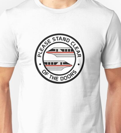 MonorailStandClearRed Unisex T-Shirt