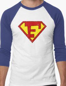 Superman F Letter Men's Baseball ¾ T-Shirt