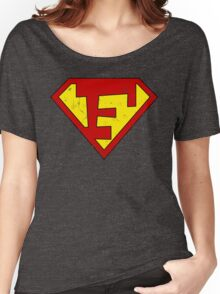 Superman F Letter Women's Relaxed Fit T-Shirt