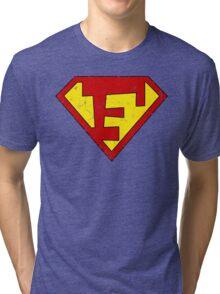 Superman F Letter Tri-blend T-Shirt