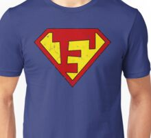 Superman F Letter Unisex T-Shirt