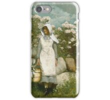 Winslow Homer - Girl And Laurel iPhone Case/Skin