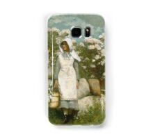Winslow Homer - Girl And Laurel Samsung Galaxy Case/Skin