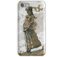 Winslow Homer - Shepherdess And Sheep iPhone Case/Skin