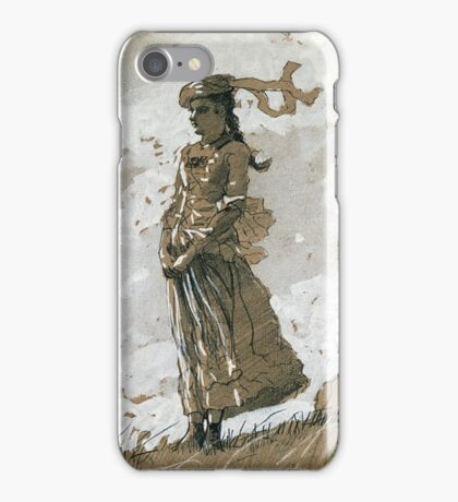 Winslow Homer - Shepherdess And Sheep iPhone Case/Skin