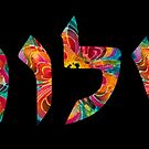 Shalom 13 - Jewish Hebrew Peace Letters by Sharon Cummings