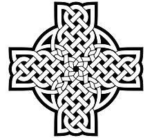 White Celtic Cross Photographic Print