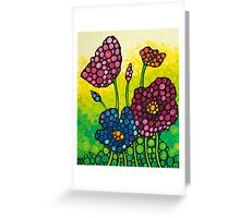 Summer Garden - Colorful Abstract Floral Art Print Flowers Greeting Card