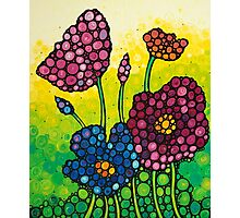 Summer Garden - Colorful Abstract Floral Art Print Flowers Photographic Print