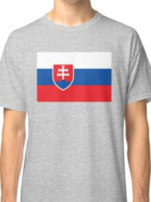 Flag of Slovakia - Authentic high quality version Classic T-Shirt