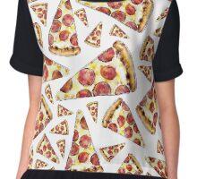 Pizza in Watercolor Chiffon Top