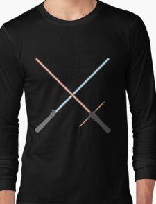 Kylo Ren and Rey Lightsabers Long Sleeve T-Shirt
