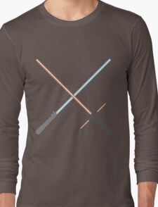 Kylo Ren and Rey Lightsabers Long Sleeve T-Shirt