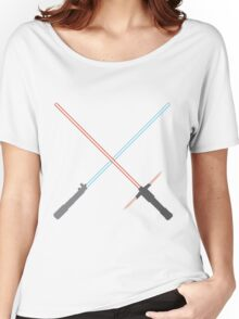 Kylo Ren and Rey Lightsabers Women's Relaxed Fit T-Shirt