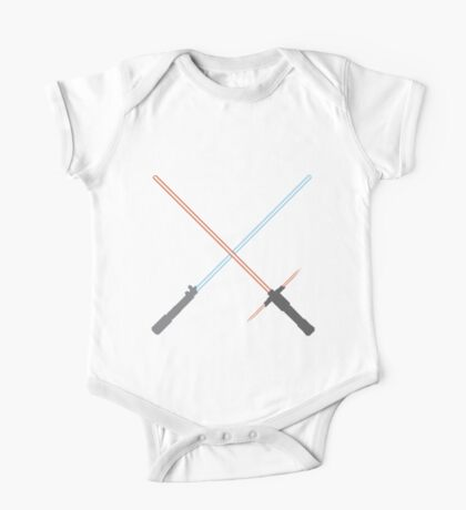 Kylo Ren and Rey Lightsabers One Piece - Short Sleeve
