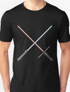 Kylo Ren and Rey Lightsabers Unisex T-Shirt