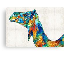 Colorful Camel Art by Sharon Cummings Canvas Print