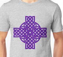 Purple Celtic Cross Unisex T-Shirt