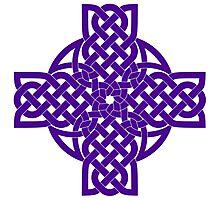 Purple Celtic Cross Photographic Print
