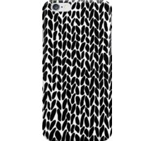 Hand Knitted Black Small iPhone Case/Skin