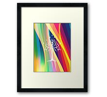 Rainbow Gondor Tree LOTR Framed Print