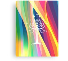 Rainbow Gondor Tree LOTR Metal Print