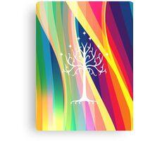 Rainbow Gondor Tree LOTR Canvas Print