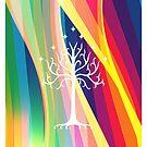 Rainbow Gondor Tree LOTR by EdwardDunning
