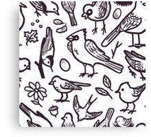 Bird Doodle Canvas Print