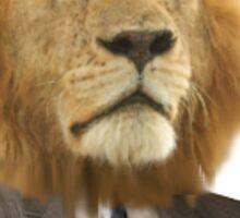 Gentleman Lion Sticker
