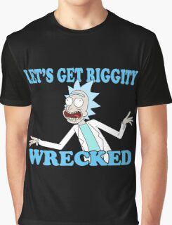 rick and morty, rick, morty, tv, comedy, cartoon, rick sanchez, riggity, wuba, wrecked, free, funny, show. Graphic T-Shirt
