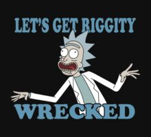 rick and morty, rick, morty, tv, comedy, cartoon, rick sanchez, riggity, wuba, wrecked, free, funny, show. Baby Tee