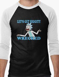 rick and morty, rick, morty, tv, comedy, cartoon, rick sanchez, riggity, wuba, wrecked, free, funny, show. Men's Baseball ¾ T-Shirt