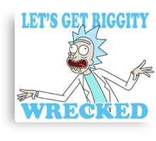 rick and morty, rick, morty, tv, comedy, cartoon, rick sanchez, riggity, wuba, wrecked, free, funny, show. Canvas Print