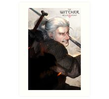Geralt The Witcher FanArt Art Print
