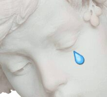 Crying Statue Sticker