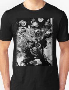 Starburst - Variation in Black Monotone Unisex T-Shirt