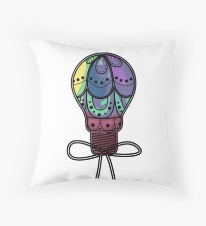 Abstract Decorative Lightbulb Throw Pillow