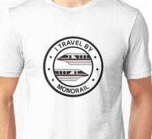 MonorailCircleTravelBlack Unisex T-Shirt
