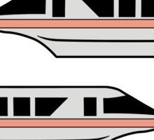 MonorailCircleTravelCoral Sticker