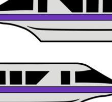 MonorailCircleTravelPurple Sticker