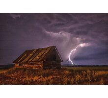 Old Battered Barn in a Storm Photographic Print