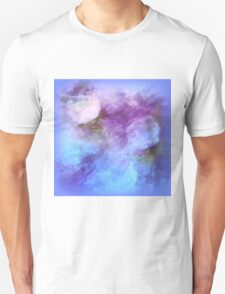 Abstract Flowers In Blue By Sherri Of Palm Springs T-Shirt